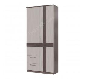 Шкаф 2х дверный с ящиками Презент