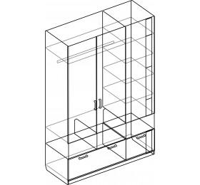 Шкаф трехдверный Белла