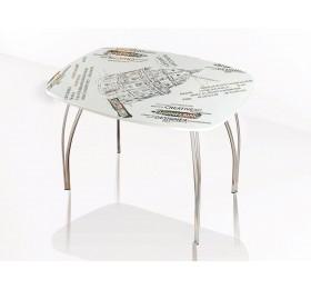 Стол со стеклом Лотос 1100х700 (Фотопечать в ассортименте)