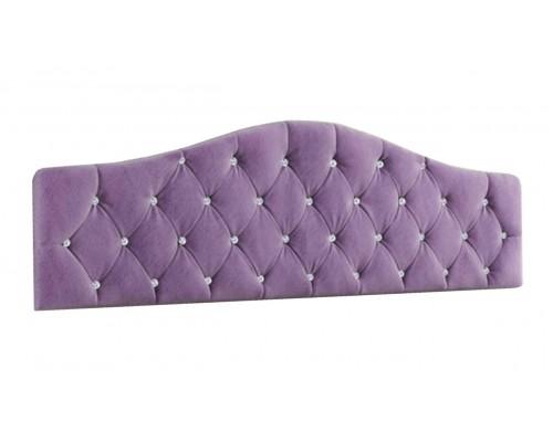 Кровать Дели (1,4) мягкое изголовье велюр сирень со стразами
