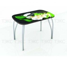 Стол со стеклом Лотос 1000х600 (Фотопечать в ассортименте)