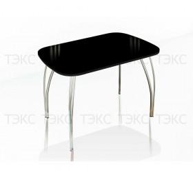 Стол со стеклом Лотос 1100х700 (лакобель чёрный)