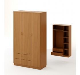 Шкаф  3хстворчатый с 2 ящиками