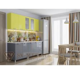 "Кухня ""Модерн"" 2,0м Графит/Груша"