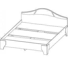 """Кровать """"Лагуна 5"""" (1,4м)"""
