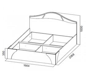 """Кровать №2 """"Лагуна 5"""" (1,6м)"""
