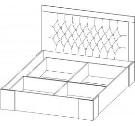 """Кровать 1.6 """"Лагуна 6"""""""