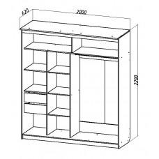 Шкаф-купе № 15 (2м)