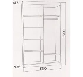 Шкаф-купе № 11 (1350)