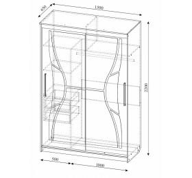 Шкаф-купе № 16 (1,5м)