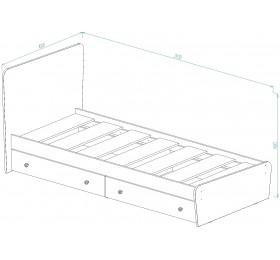 """Кровать для детской КР-32 """"Алиса"""""""