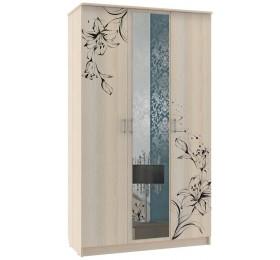 "Шкаф 3-х створчатый распашной ШР-3 ""Цветы""(без зеркала)"