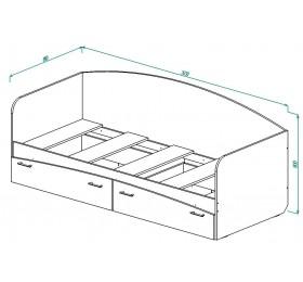 """Кровать с ящиками """"Совы"""""""