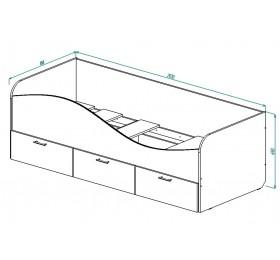 """Кровать с ящиками """"Ретро"""""""