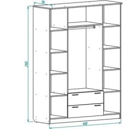 Шкаф ШР4 с ящиками